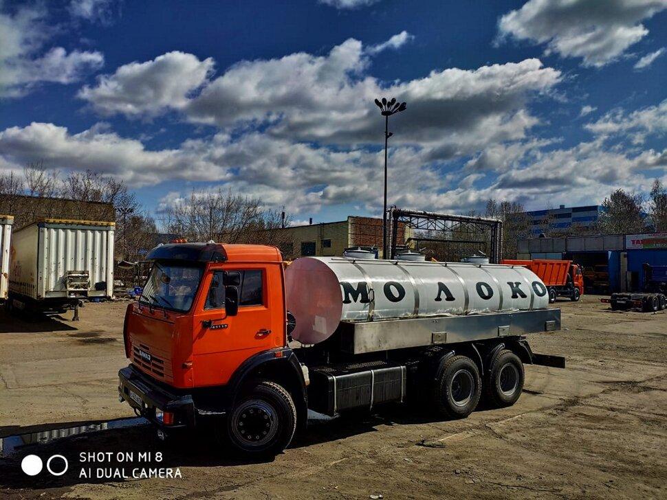 Автоцистерна молоковоз КамАЗ 65115, 2013, оранжевый фото 2