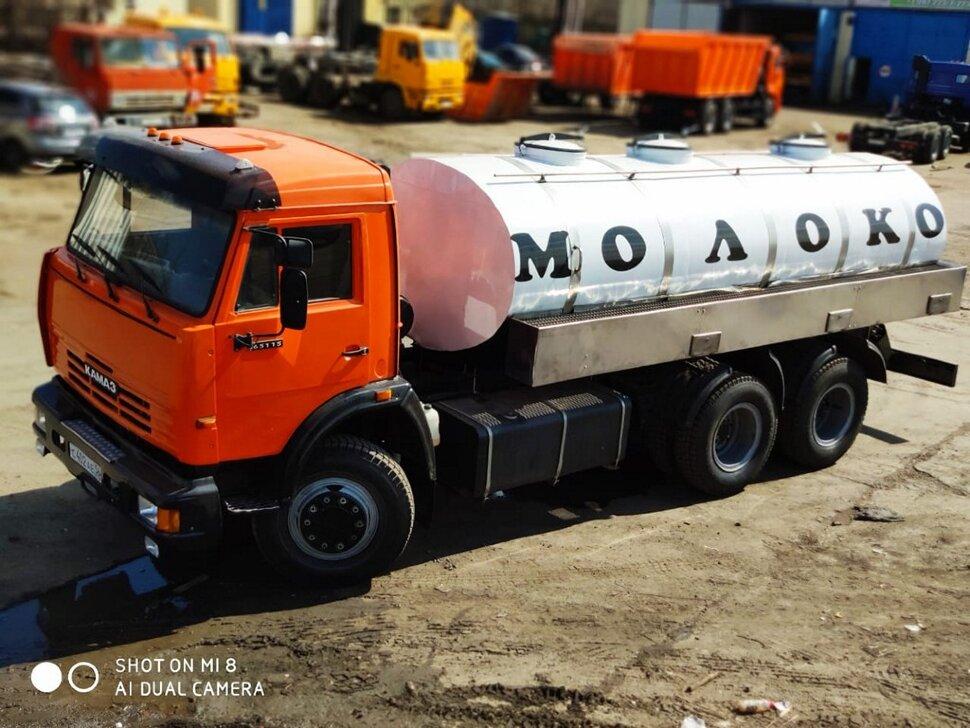 Автоцистерна молоковоз КамАЗ 65115, 2013, оранжевый фото 3
