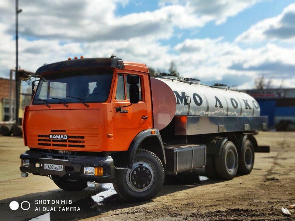 Автоцистерна молоковоз КамАЗ 65115, 2013, оранжевый фото 4