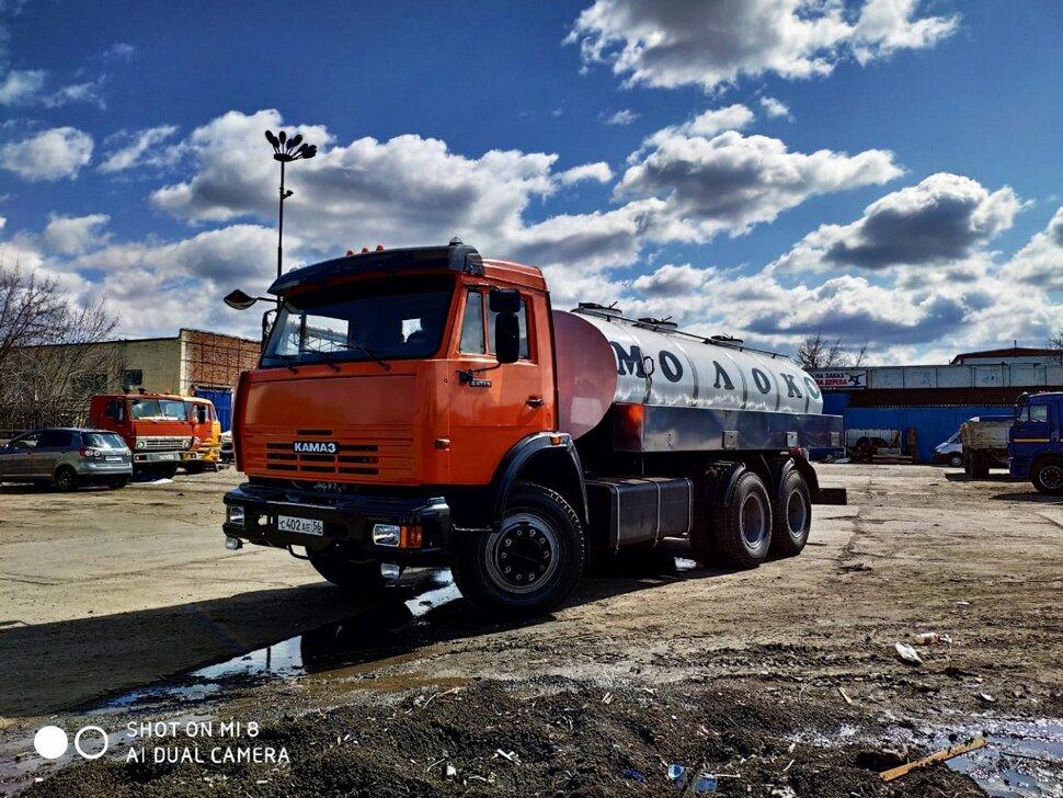 Автоцистерна молоковоз КамАЗ 65115, 2013, оранжевый фото 5