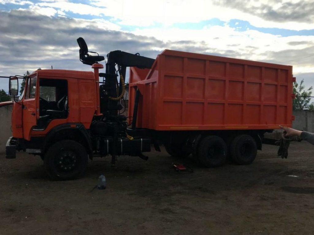КамАЗ 65115 ломовоз, 2012, оранжевый фото 7