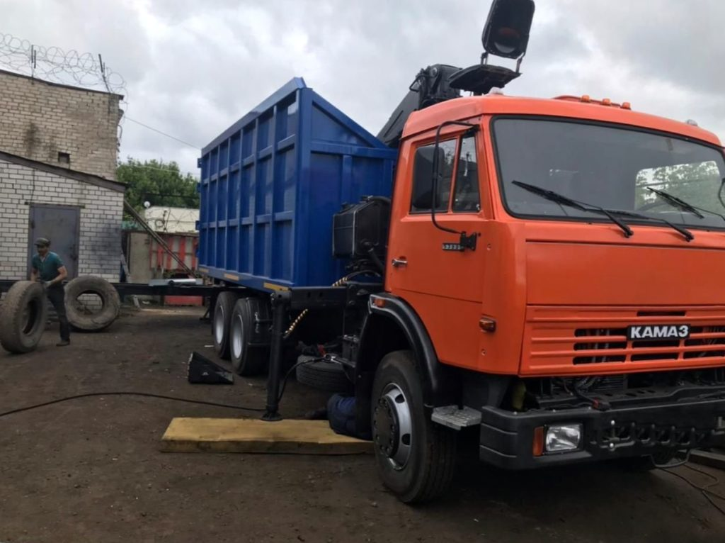 КамАЗ 65115 ломовоз, 2012, оранжевый фото 10