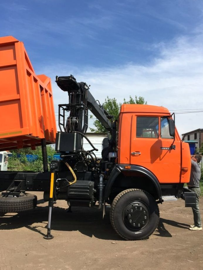 КамАЗ 65115 ломовоз, 2012, оранжевый фото 11