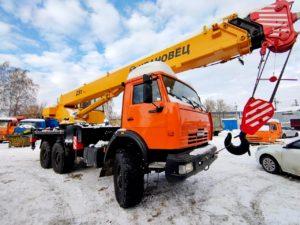 Автокран КамАЗ 43118 Ивановец 25т, 2012, оранжевый бу фото
