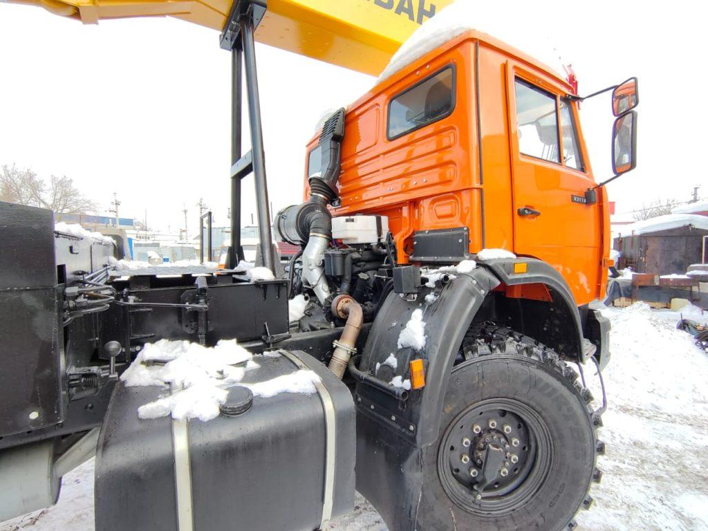 Автокран КамАЗ 43118 Ивановец 25т, 2012, оранжевый фото 4
