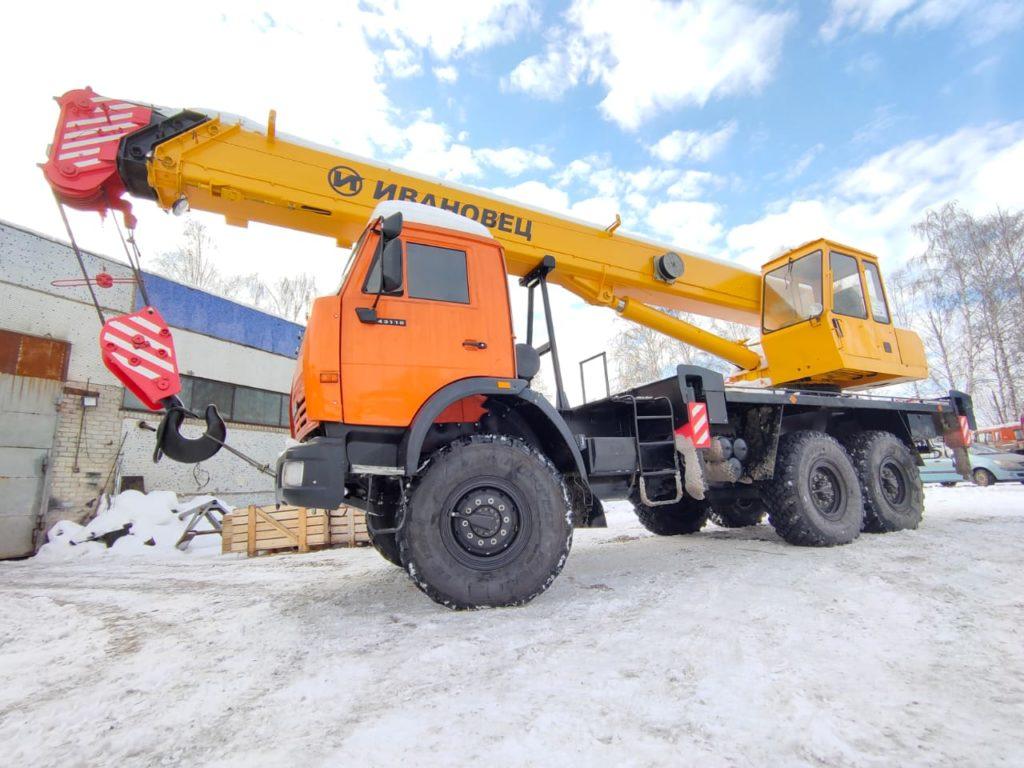 Автокран КамАЗ 43118 Ивановец 25т, 2012, оранжевый фото 9